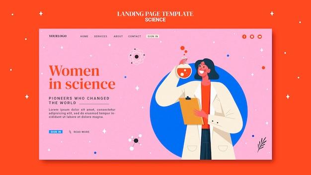 Modello di pagina di destinazione per le donne nella scienza