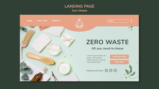 Modello di pagina di destinazione per uno stile di vita a rifiuti zero