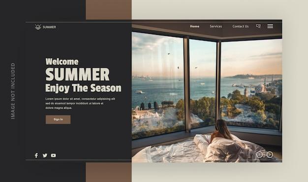 Pagina di destinazione benvenuta vacanze estive