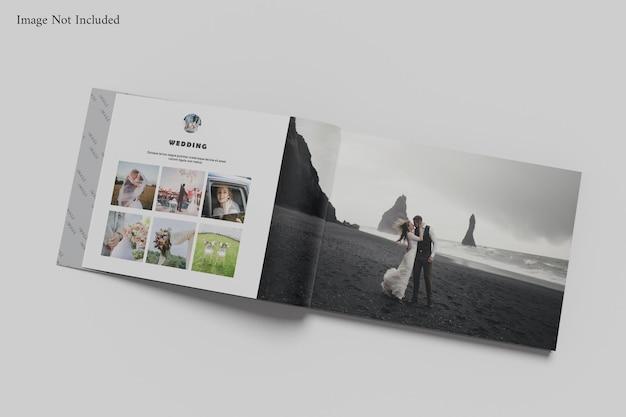 Mockup di album di libri paesaggistici
