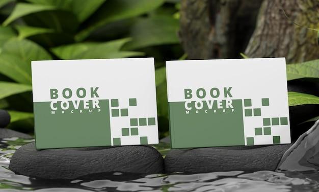 Modello di copertina del libro di paesaggio con il concetto di natura