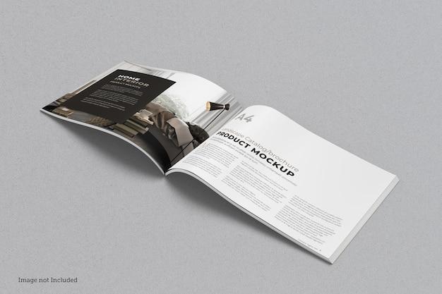 Brochure paesaggistica e mockup di catalogo