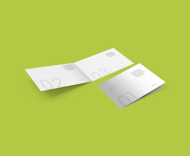 Brochure paesaggistica mockup