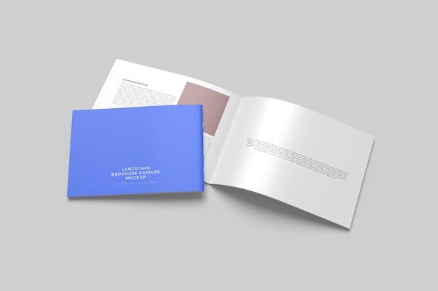 Mockup di brochure di paesaggio isolati