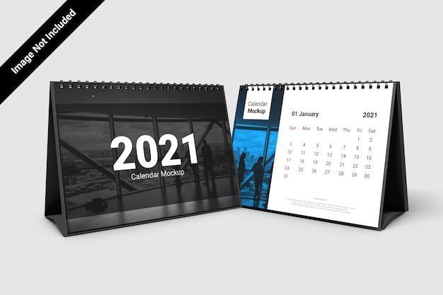 Mockup di calendario paesaggistico con rilegatura a spirale