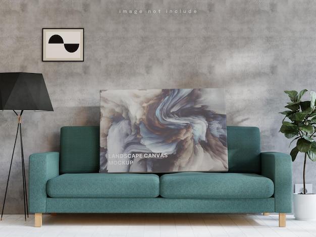 Mockup di poster su tela paesaggistica