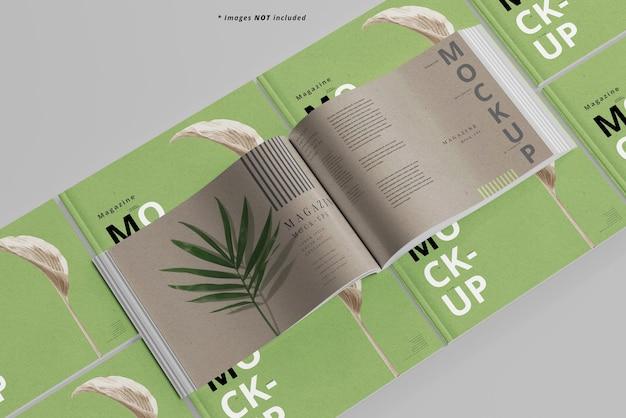 Mockup di rivista paesaggistica