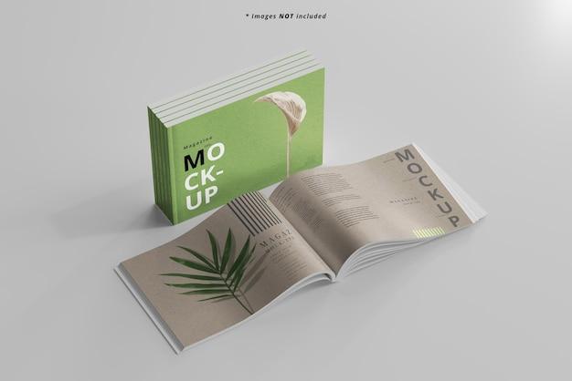 Mockup di riviste di paesaggio