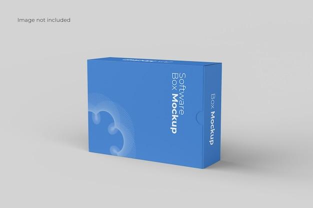 Mockup della scatola del software del paesaggio