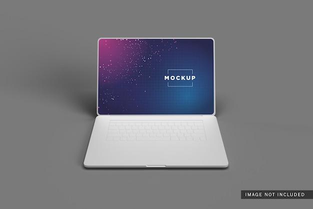 Mockup di argilla per laptop
