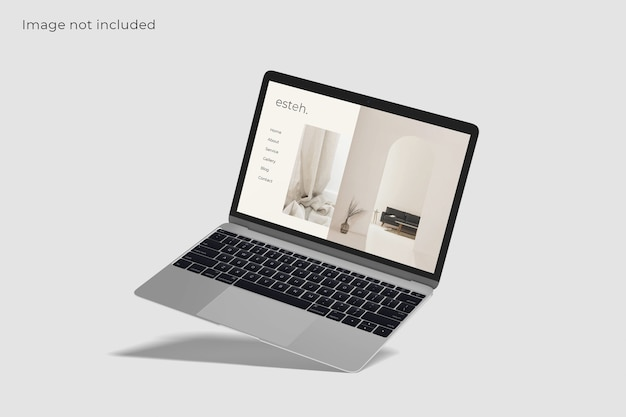Mockup di schermo del dispositivo digitale portatile
