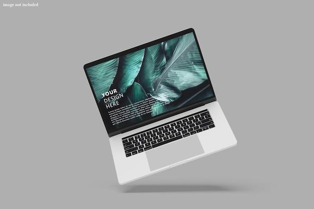 Mockup dello schermo del dispositivo digitale portatile
