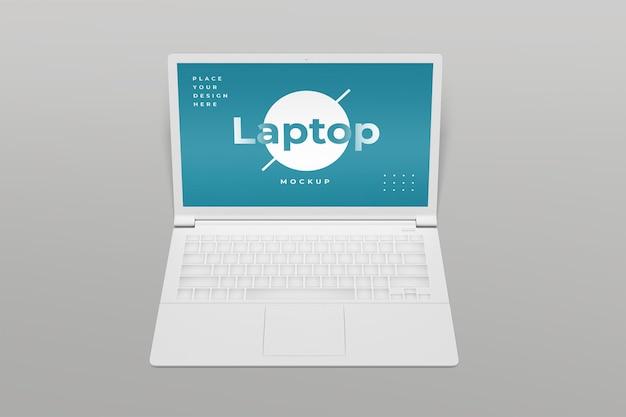 Computer portatile vista frontale mockup design isolato