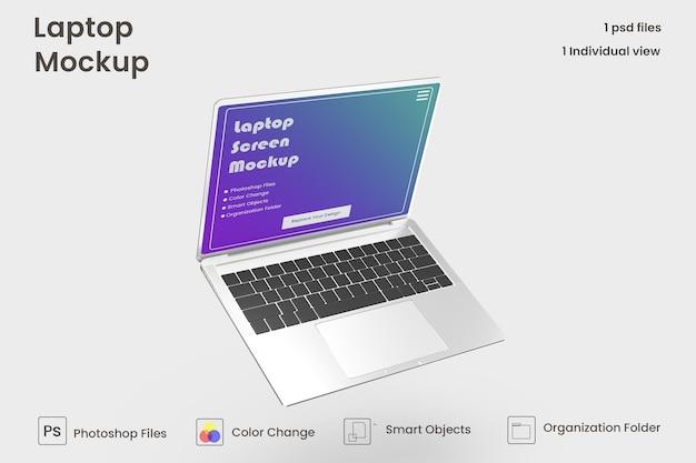 Modello di laptop psd premium