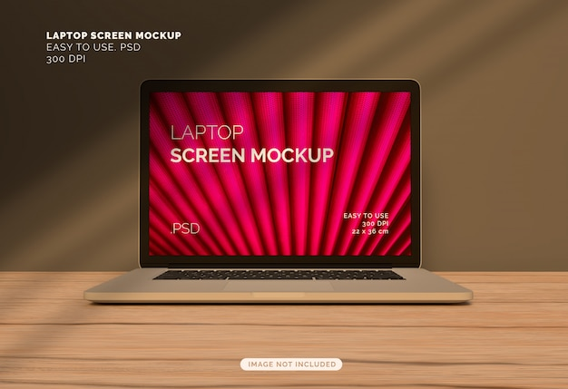 Schermo del laptop mock-up