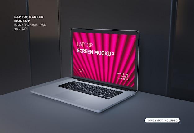Schermo del computer portatile mockup