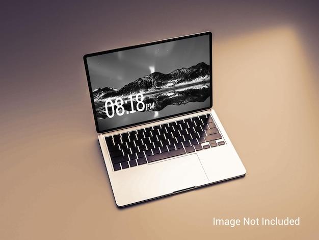 Mockup dello schermo del laptop