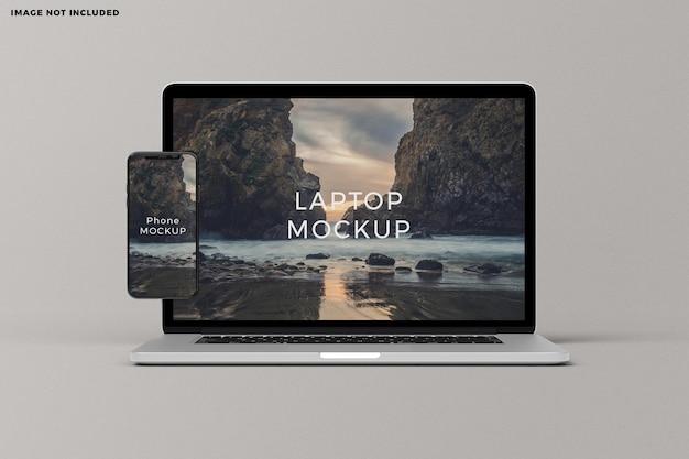 Mockup di schermo del dispositivo portatile e smartphone