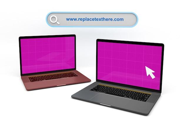 Sito web per laptop