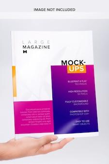 Grande mockup di copertina di una rivista