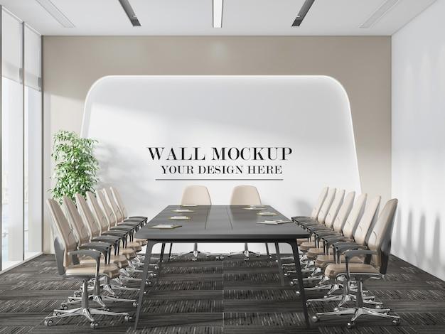 Grande mockup della parete della sala riunioni
