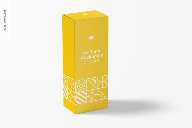 Mockup di packaging per profumi di grandi dimensioni