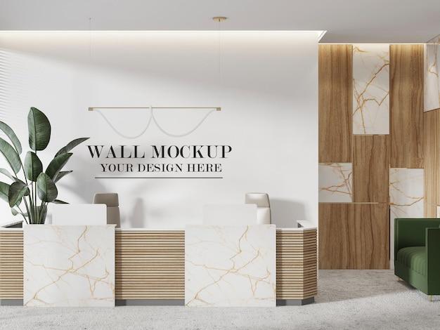 Grande mockup di parete della reception
