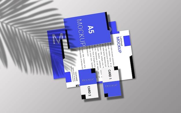 Design mockup di latterhead e carte