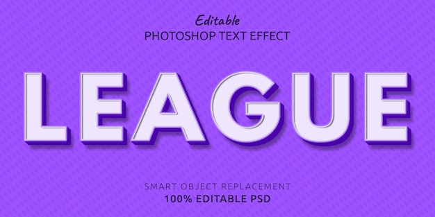 Lega modificabile psd text style effect