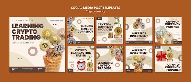 Imparare il post sui social media di trading di criptovalute