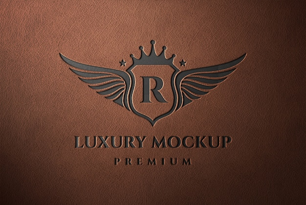 Mockup in pelle con logo