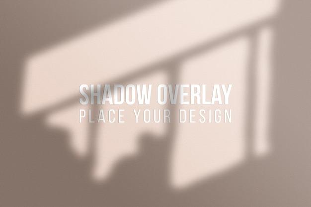 Foglie ombre overlay e finestra ombre overlay effect concetto trasparente
