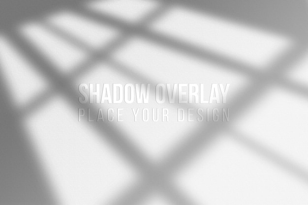 Lascia shadows overlay e finestra shadows overlay effect concetto trasparente