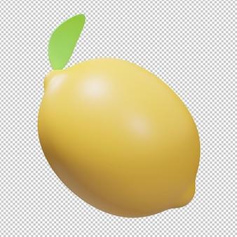 Illustrazione 3d di frutta di limone