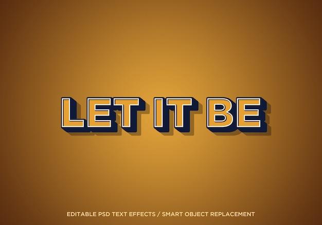 Let it be edit text effect