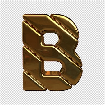 Una lettera d'oro nel rendering 3d