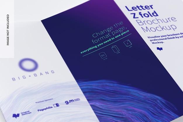 Lettera z pieghevole brochure mockup