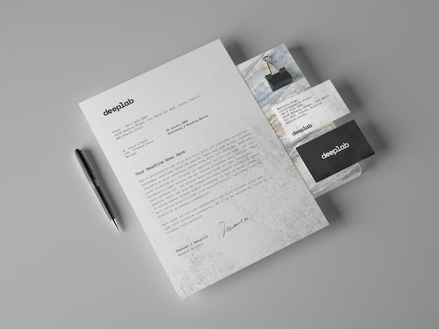 Carta intestata e biglietti da visita Psd Premium