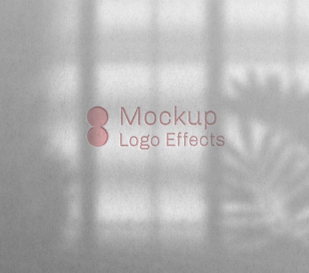 Stampa tipografica logo mockup