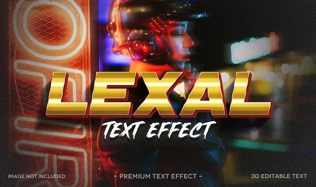 Modello di mockup effetto testo 3d lexal