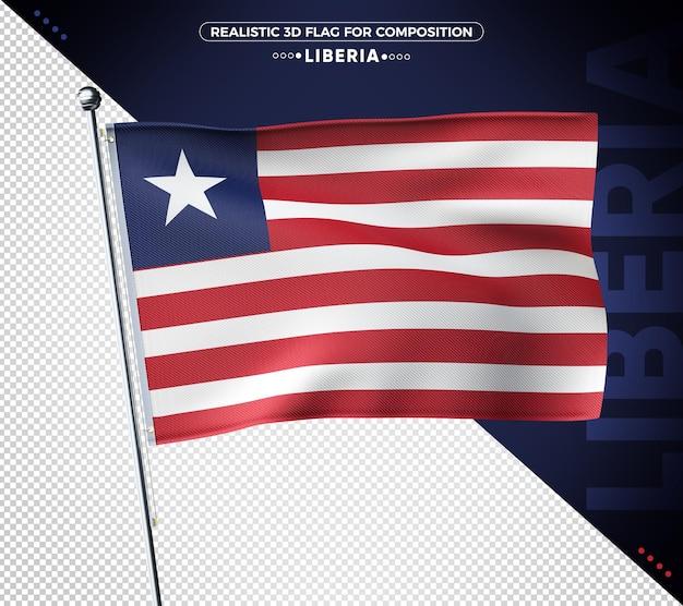 Liberia 3d bandiera testurizzata per composizione isolata