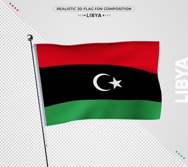 Bandiera della libia con texture realistica