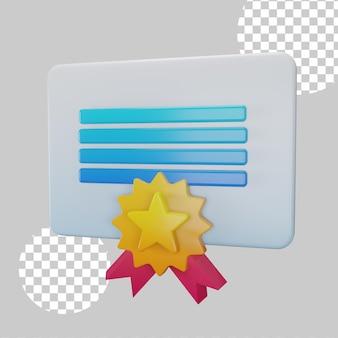 Illustrazione 3d del concetto di licenza