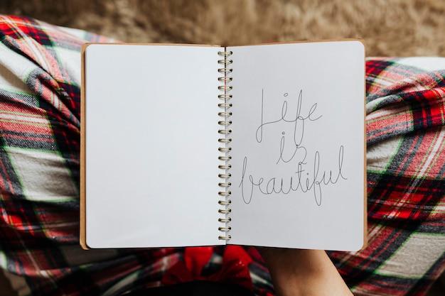 La vita è bella su un modello di agenda personale