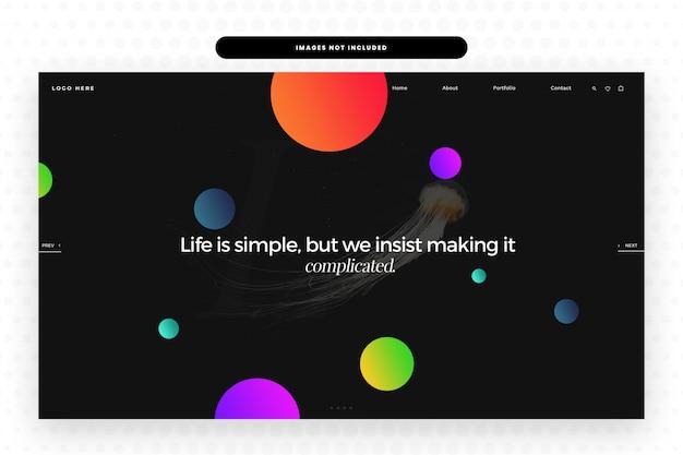 La vita è un sito web semplice