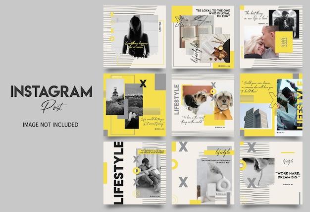 Stile di vita instagram post template design