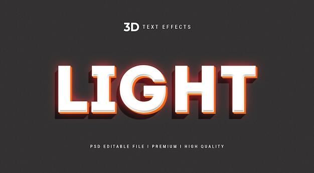 Modello di effetto di stile di testo 3d leggero