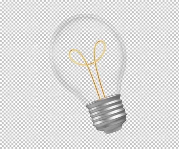Lampadina 3d rendering illustrazione