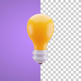 Illustrazione 3d della lampadina