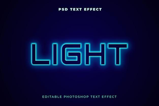 Modello effetto testo chiaro light